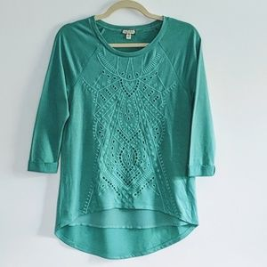 3 for $30 High low lined in front eyelet top